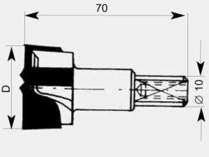 Broca 31 BH D15*70 MD Z=2+2 esquema