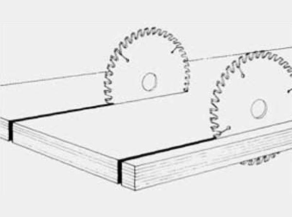 Disco para paneles recubiertos con diente recto-trapecial D250 plano