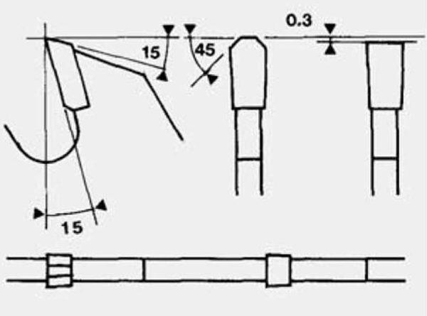 Disco para seccionadora con diente recto-trapecial D300/d30 plano