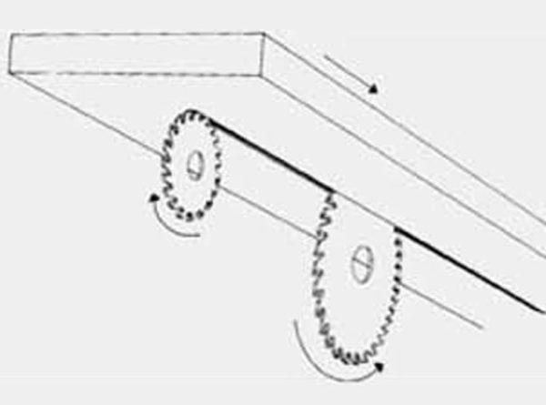Disco incisor con diente cónico D80/d20 esquema