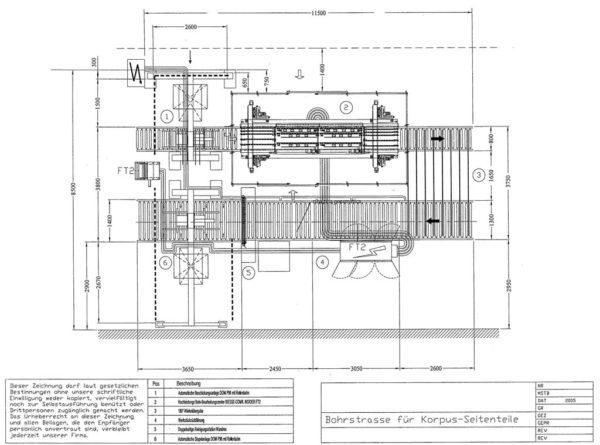 Taladro ocasión Biesse Comil Insider FT2 700 Line plano